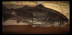 1986 Arthur Court hammered aluminum salmon tray